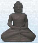 Sitzender Buddha mit schmaler Bowle