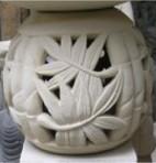 Runder Podest Bamboo komplett